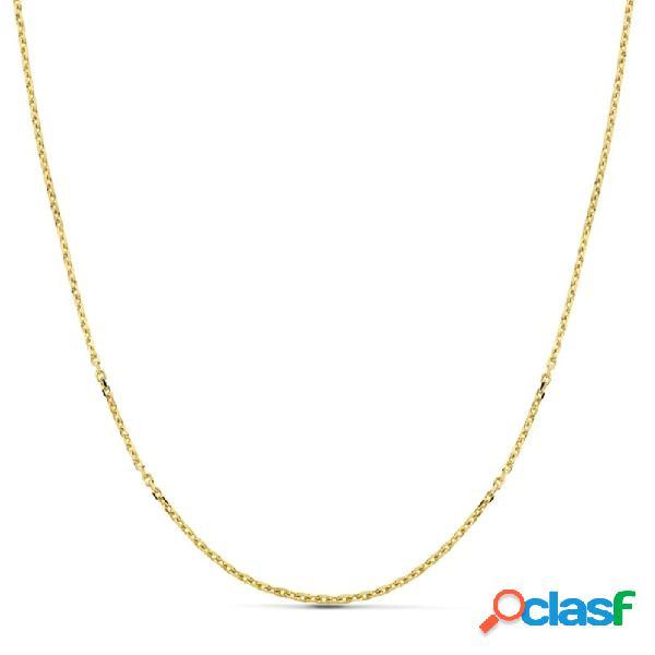 Cadena oro 18k forzada 45 cm hueca 1,50 mm. 2,30 gr