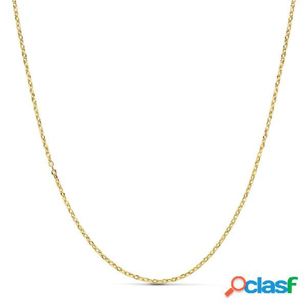 Cadena oro 18k forzada 50 cm hueca 1,2 mm. 1,75 gr