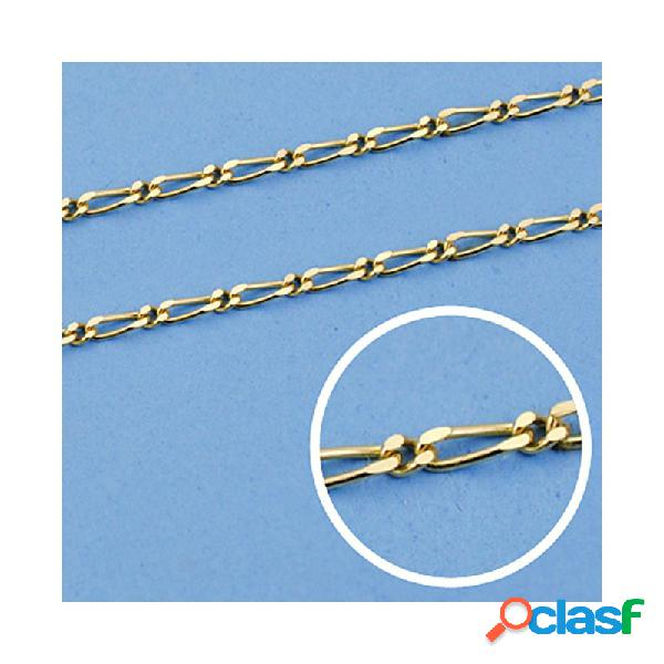Cadena oro 18k maciza 60cm. eslabón 1x1 ancho 1,5 mm. 5.20