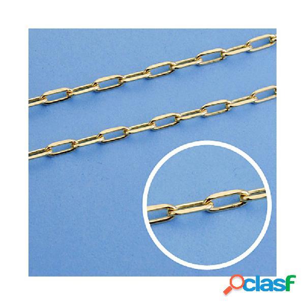Cadena oro 18k maciza forzada. 50 cm. 3 mm. 11.50 grs.