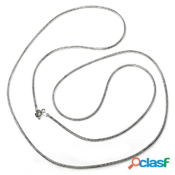 Cadena plata Ley 925m 70 cm. cola de ratón lisa