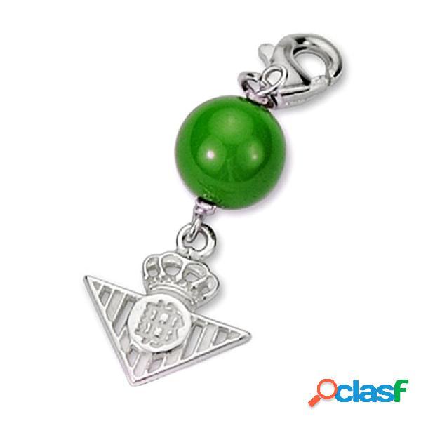 Chamrs escudo Real Betis plata de ley bola verde