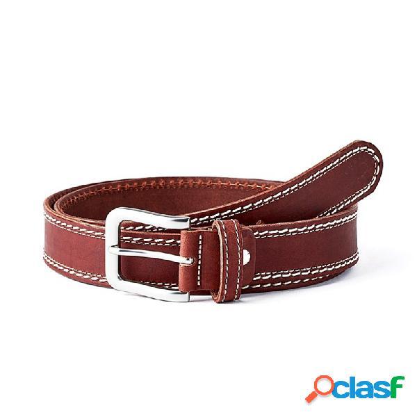 Cinturón piel SAUVAGE doble cosido cuero