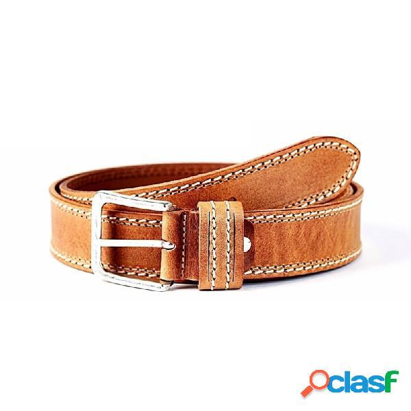 Cinturón piel STONEHEAD doble cosido cuero