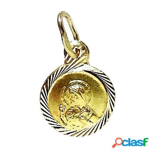 Colgante oro 18k medalla Corazón de Jesús