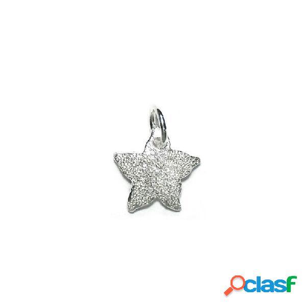 Colgante plata Ley 925m estrella de mar diamantada