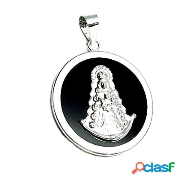 Colgante plata ley 925m 40mm. Virgen Rocío