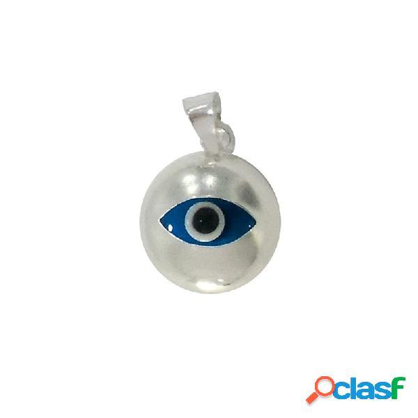 Colgante plata ley 925m. ojo turco redondo
