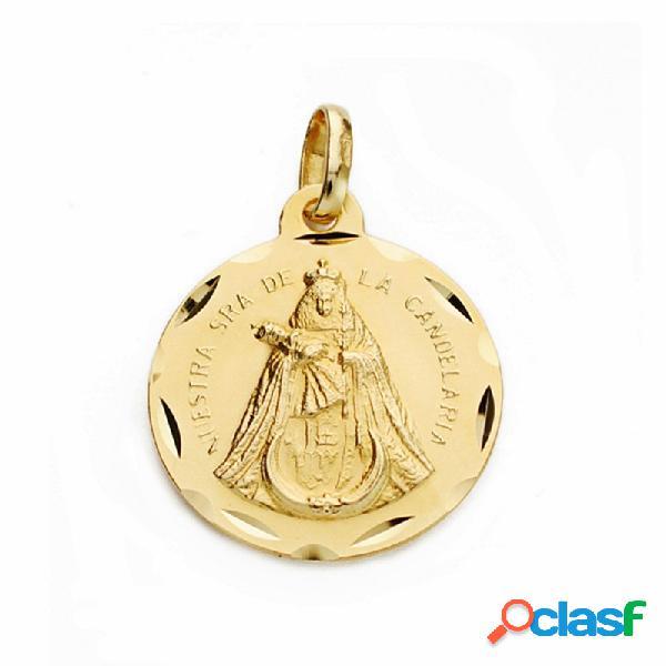 Medalla oro 18k Nuestra Señora de la Candelaria 18mm.