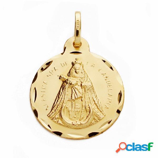 Medalla oro 18k Nuestra Señora de la Candelaria 20mm.