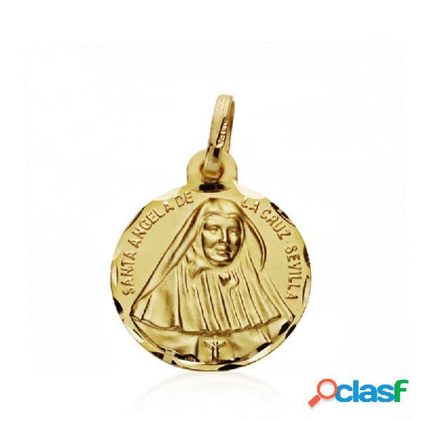 Medalla oro 18k Santa Ángela de la Cruz 16mm.