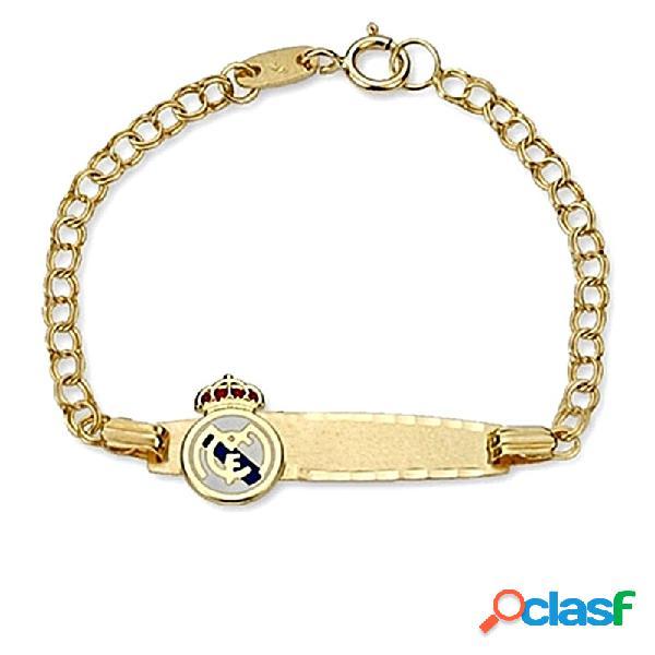 Pulsera escudo Real Madrid oro de ley 18k esclava bebé