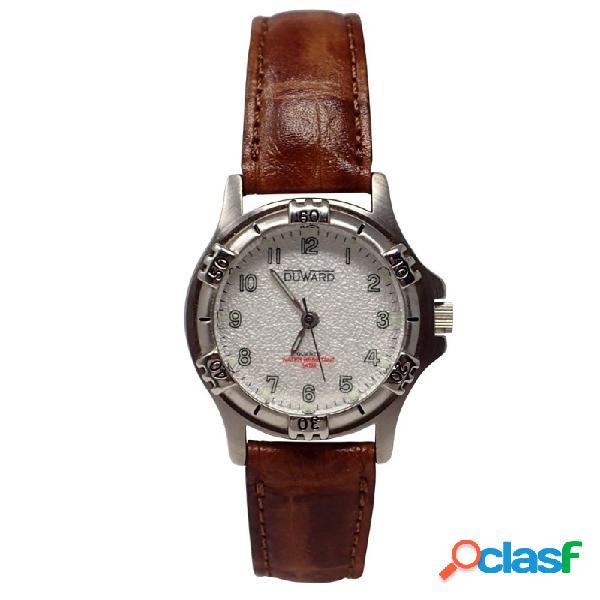 Reloj Duward mujer D41467 piel marrón clásico