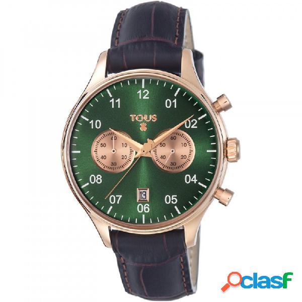 Reloj Tous mujer 1920 verde correa piel marrón 600350445