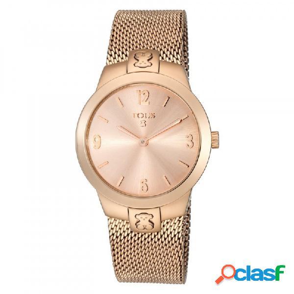 Reloj Tous mujer T-Mesh oso rosado correa milanesa 400350990