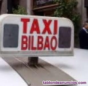 Se vende licencia de taxi de bilbao con número par