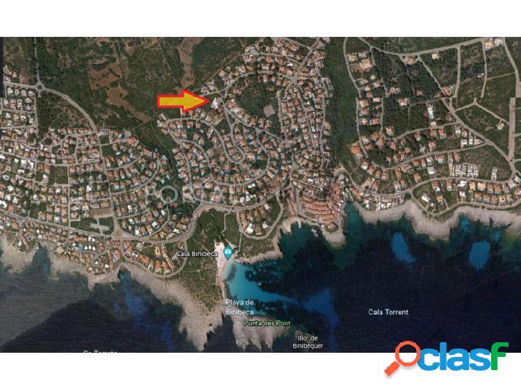 Amplia parcela en venta en zona tranquila en Binibeca Nou