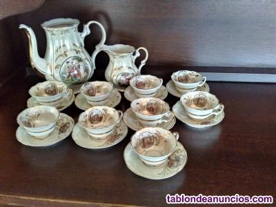 Vendo juego de café de porcelana santa clara