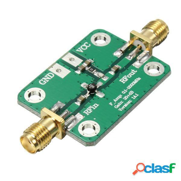 0.1-2000MHz RF de banda ancha Amplificador 30dB Ganancia