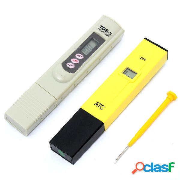 0-9999 PPM Digital Medidor de PH Probador de TDS Monitor de