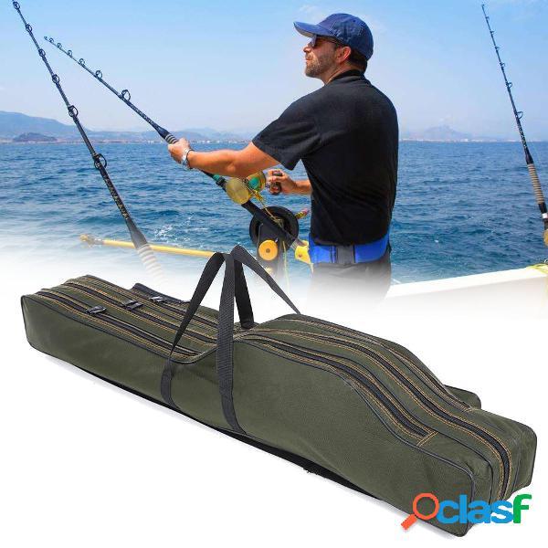 1.2M / 1.3M Plegable portátil pesca Varilla Bolsa Poste de