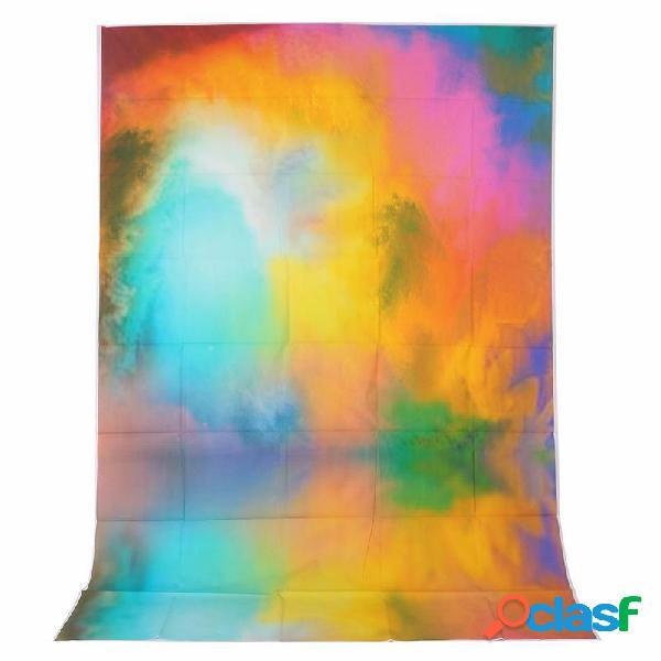 1.5x2.1m 5x7ft halo de color de vinilo colorido de fondo la