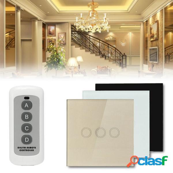 1 camino interruptor de pared de 3 cuadrillas luz del panel