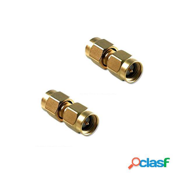 10 piezas SMA macho a SMA macho adaptador de barril Conector