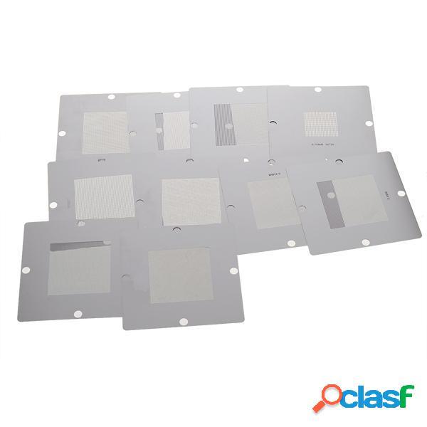 10 uds Kit de Plantilla BGA de 90 x 90 mm para Reball