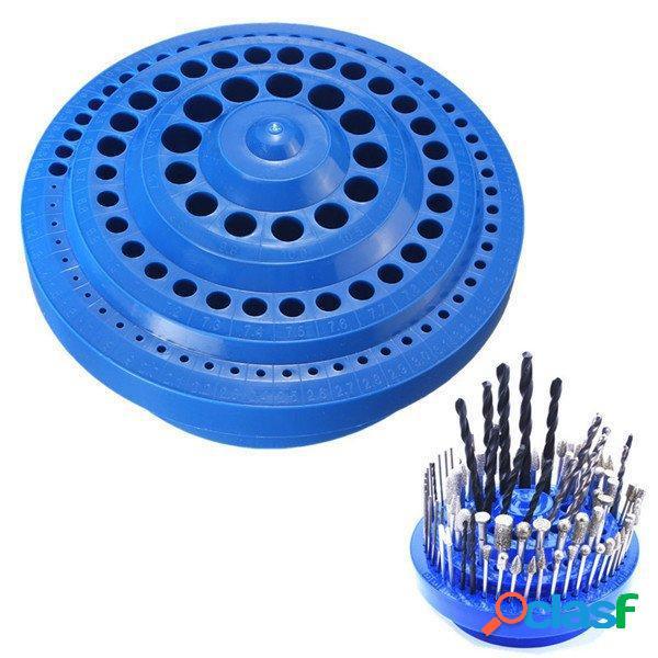 100 agujeros Taladro Almacenamiento de bits Caso Plástico