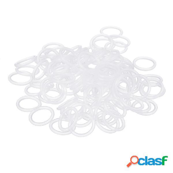 100 piezas M2 M3 Silicona Amortiguador de anillo en forma de