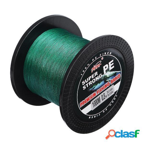 1000M 4 hilos Super Strong trenzado verde Spectra Sea pesca