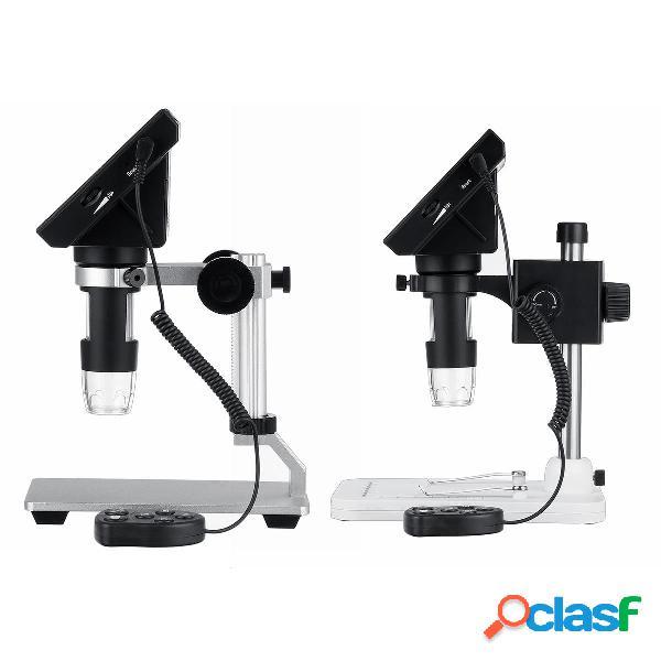 1000X lupa de microscopio digital portátil de 4.3 pulgadas