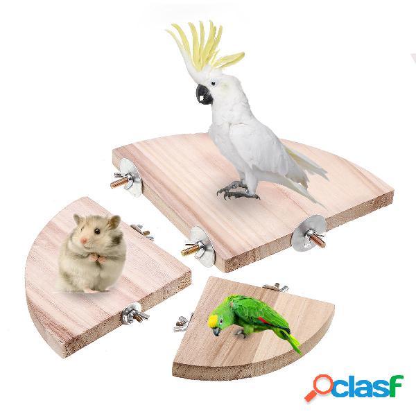 10/13/17 cm Liso Steady Pet Bird Plataforma Jaula Soporte