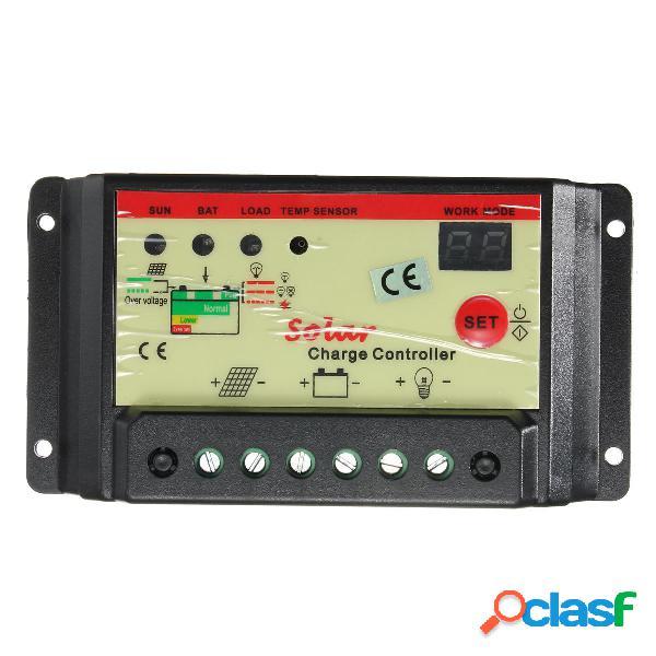 10A 12V 24V Controlador de Carga Solar Regulador de la