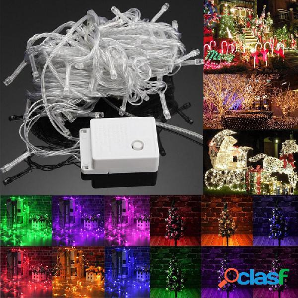 10M 100LED luz de la Navidad de la secuencia de hadas al