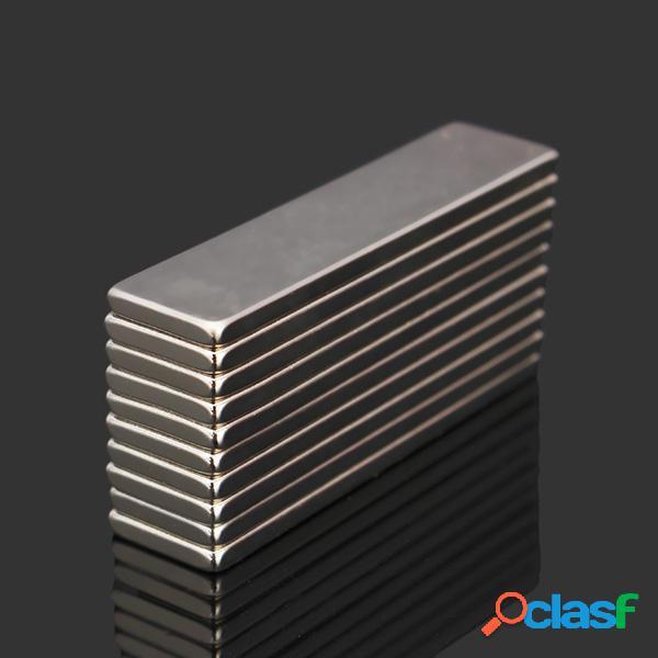 10pcs n52 40x10x2mm bloque super fuerte imanes de tierras