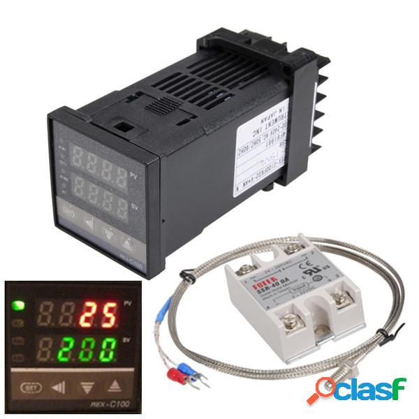 110-240V 0 ~ 1300 ℃ REX-C100 Kit de controlador de