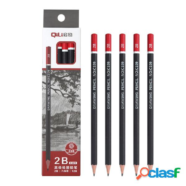 12 piezas 2B / 3B / 4B / 5B Art Pencil Soft Medium Hard