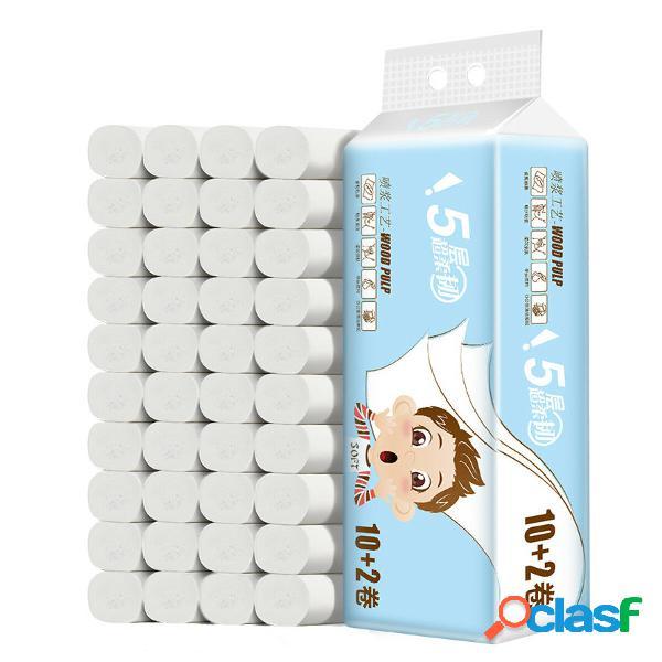 12 rollos 5 capas de papel higiénico para el hogar Ultra