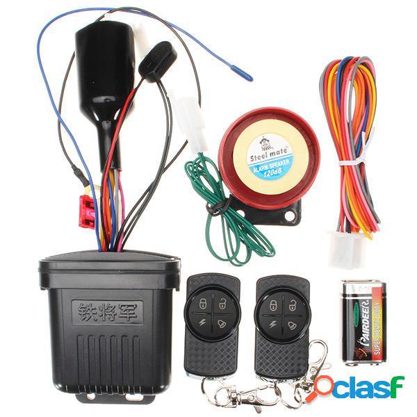12V 120db Control remoto Moto Sistema de alarma de seguridad