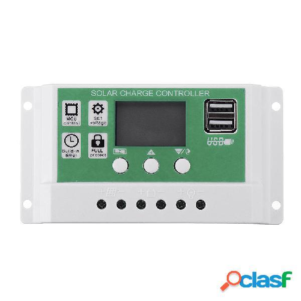12V / 24V 10A/20A/30A Salida USB dual Litio Batería PWM