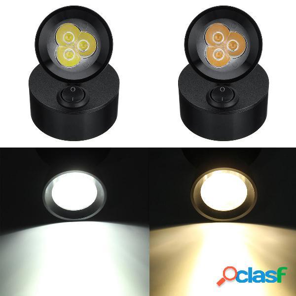 12V-24V 3W LED Spot Luces de lectura Portátil Lámpara para