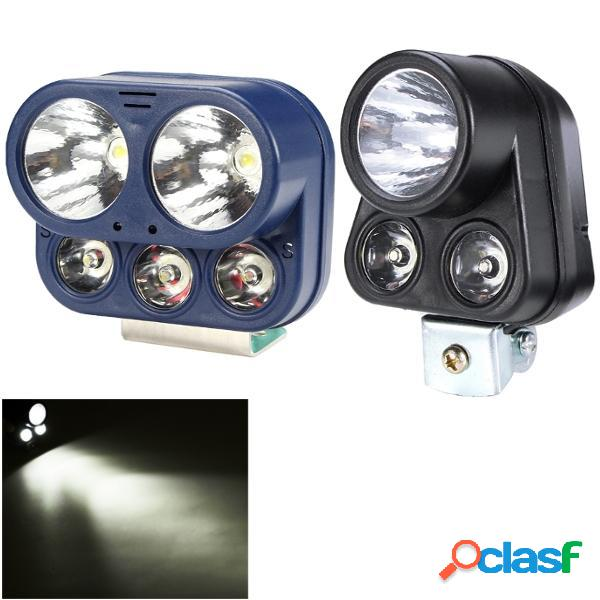 12W 12V-85V 5/3 LED Blanco Moto Ciclomotores Fog Spot Lightt