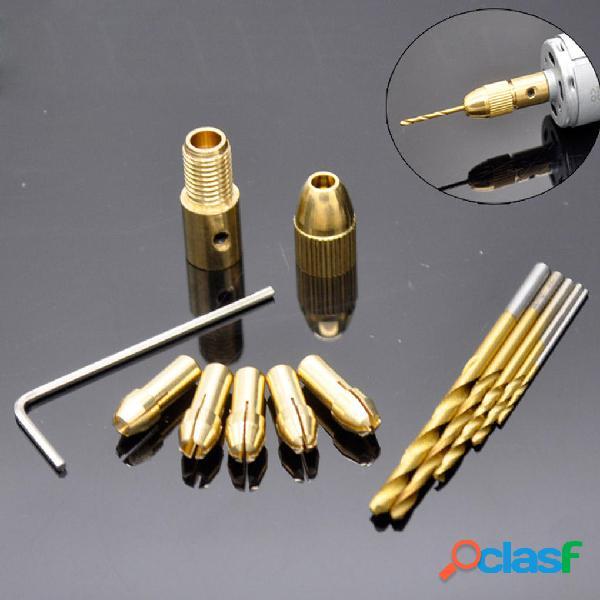 12pcs 0.5-3mm Small Electric Taladro Bit Chuck Collet con