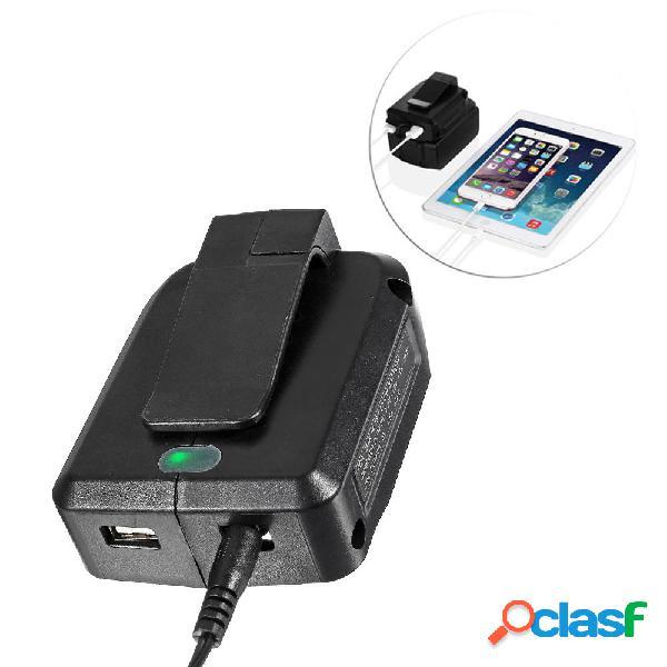 14.4V-18V Li-ion Batería cargador con salida USB para