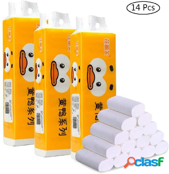 14 rollos de papel higiénico premium de 4 capas Papel