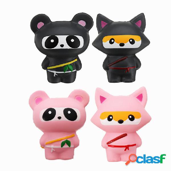 14cm Lindo Jumbo Squishy Ninja Gato Fox Panda Scented Super