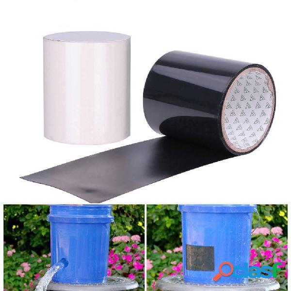 150x30cm PVC Negro / Blanco Súper Fijo Fuerte Impermeable