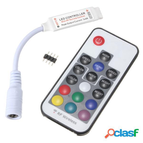 17 teclas dc 5v-24v rf LED mando a distancia inalámbrico